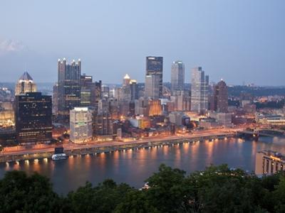 Pittsburgh Skyline Along the Monongahela River by Richard Nowitz