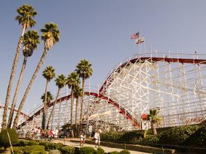 Roller Coaster at Santa Cruz Beach Boardwalk, California by Richard Nowitz