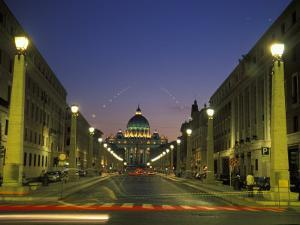 Saint Peter's Square at Vatican City at Night by Richard Nowitz