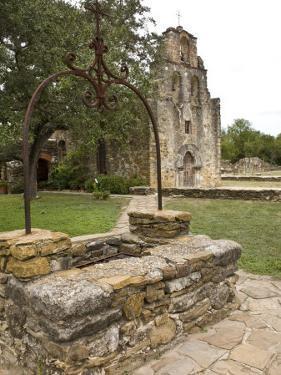 San Antonio, Texas, Mission Espada Old Well and Church Facade by Richard Nowitz