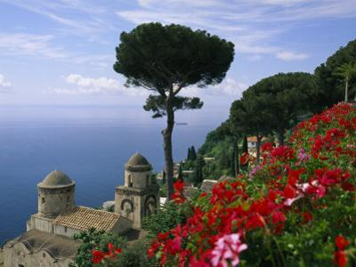 Scenic View of Villa Rufolo Terrace Gardens and Wagner Terrace by Richard Nowitz