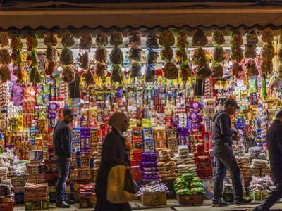 Shoppers Pass an Outdoor Market in East Jerusalem by Richard Nowitz