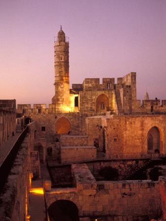 Sound and Light Show at Jerusalem City Museum of Citadel of David and Jaffe Gate by Richard Nowitz