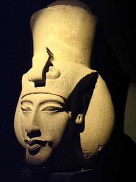 Statue of Pharaoh Akhenaten, Also Known as Amenhotep IV, Roman Museum of Antiquities by Richard Nowitz