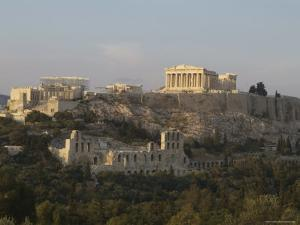 The Acropolis in Athens Greece by Richard Nowitz