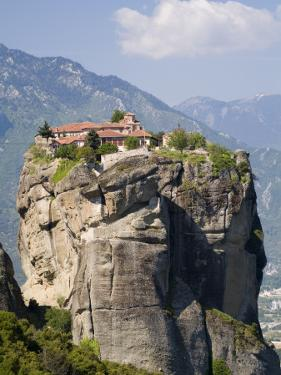The Agia Trias Monastery Located on One of the Meteora Peaks by Richard Nowitz