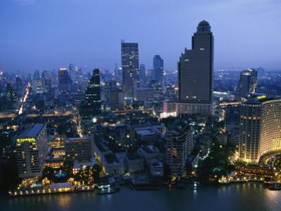 The Bangkok Skyline at Dusk by Richard Nowitz