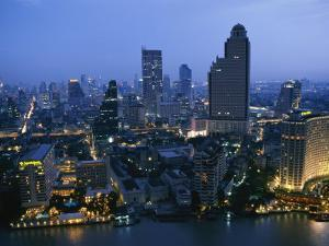 The Bangkok Skyline at Dusk by Richard Nowitz