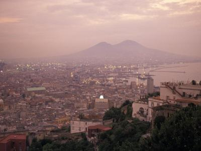 The City of Naples and Mount Vesuvius at the Bay of Naples in Italy by Richard Nowitz
