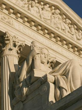 The Contemplation of Justice Sculpture outside the Supreme Court by Richard Nowitz