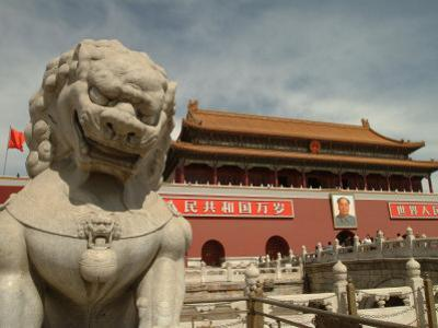 The Gate of Heavenly Peace at Tiananmen Square by Richard Nowitz
