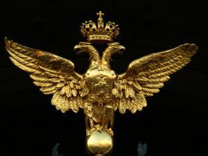 The Romanov Double Eagle Crest on the Entrance to the Winter Palace by Richard Nowitz