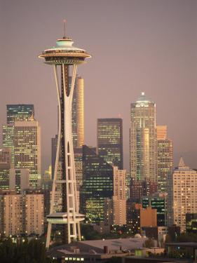 The Space Needle Dominates the Seattle Skyline by Richard Nowitz