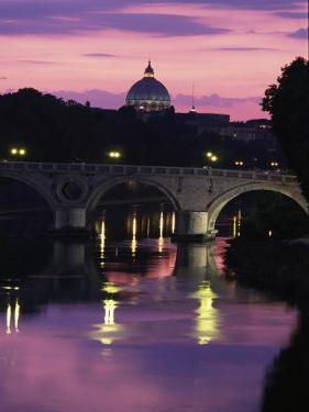 The Tiber River and the Dome of St by Richard Nowitz