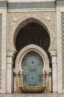 The Tiled Fountain Outside the Hassan Ii Mosque by Richard Nowitz