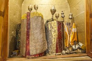 Torah Scrolls in the Akhaltsikhe Synagogue of the Georgian Jews by Richard Nowitz