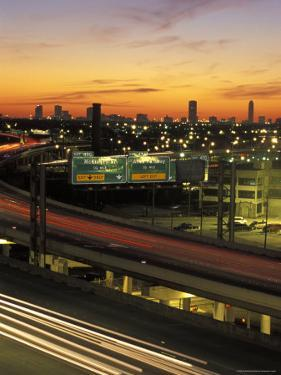 Traffic on Elevated Highway Route 75 in Houston, Texas by Richard Nowitz