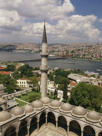 View From Istanbul's Suleymaniye Mosque Across the Golden Horn