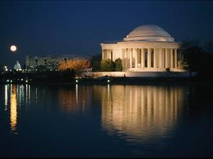 View of the Jefferson Memorial at Night by Richard Nowitz