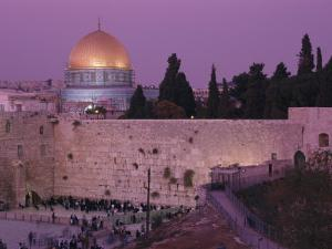 Western Wall with the Dome of the Rock in the Background by Richard Nowitz