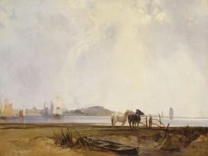 Landscape Near Quillebeuf, France, C.1824-25 by Richard Parkes Bonington