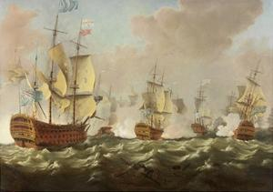 A Naval Engagement by Richard Paton