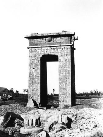 Temple Arch at Karnak, Egypt, 1863-1864