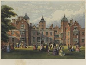 The Queen's Visit to Warwickshire, Aston Hall by Richard Principal Leitch