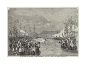 The War, Arrival of the Emperor Napoleon at the Port of Genoa by Richard Principal Leitch
