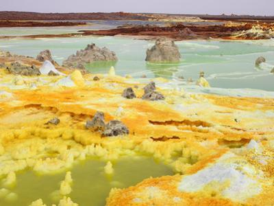 Dallol Geothermal Area with Brine Springs and Hot Springs, Ethiopia