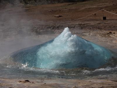 Eruption of Strokkur Geysir, Iceland