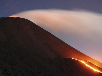 Pacaya Volcano Lava Flows on Mackenney Cone, Guatemala