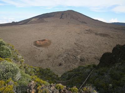 Piton De La Fournaise Volcano Summit Caldera, Reunion Island, Indian Ocean