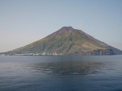 Stromboli Island with Stromboli Volcano, Eolian Islands, Italy, 2006