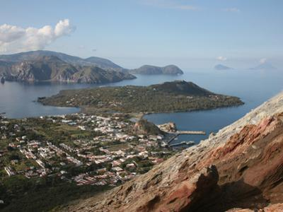 View from the Flank of Vulcano Volcano to Lipari and Other Eolian Islands, Italy