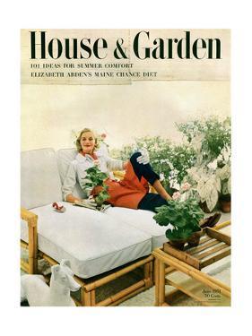 House & Garden Cover - June 1951 by Richard Rutledge
