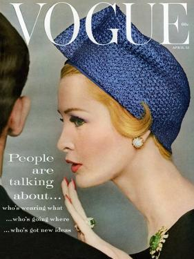 Vogue Cover - April 1959 - Talking Points by Richard Rutledge