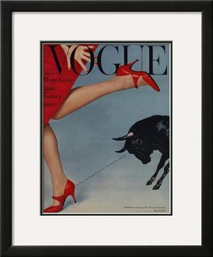 Vogue Cover - February 1958 by Richard Rutledge