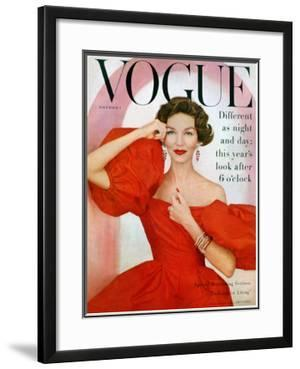 Vogue Cover - November 1956 by Richard Rutledge