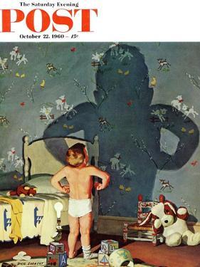"""""""Big Shadow, Little Boy,"""" Saturday Evening Post Cover, October 22, 1960 by Richard Sargent"""