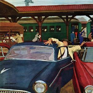 """""""Cramped Parking,"""" March 5, 1960 by Richard Sargent"""