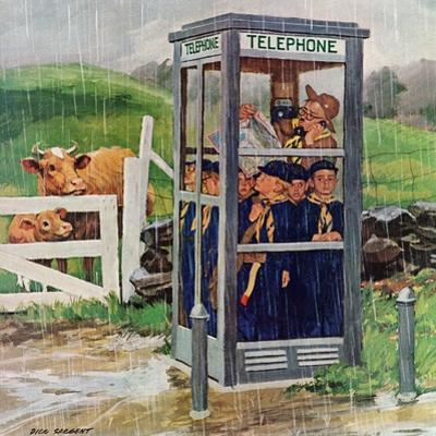 """Cub Scouts in Phone Booth,"" August 26, 1961 by Richard Sargent"