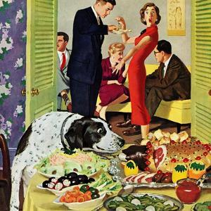 """""""Doggy Buffet"""", January 5, 1957 by Richard Sargent"""