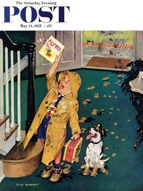 """Happy Mother's Day"" Saturday Evening Post Cover, May 11, 1957 by Richard Sargent"