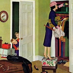 """Hiding the Presents"", December 7, 1957 by Richard Sargent"