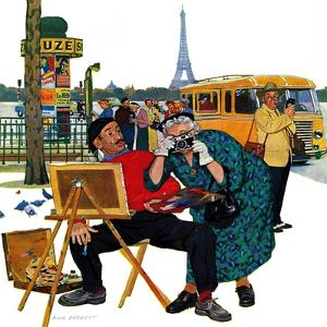 """Parisian Artist & Tourist"", July 11, 1959 by Richard Sargent"