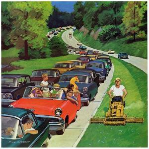 """Speeder on the Median,"" June 2, 1962 by Richard Sargent"