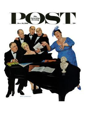 """The Fat Lady Sings,"" Saturday Evening Post Cover, December 16, 1961 by Richard Sargent"