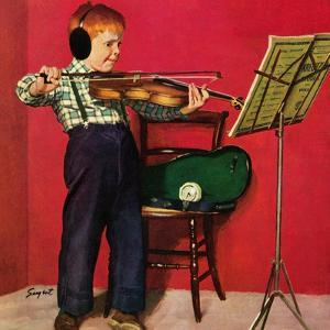 """Violin Practice"", February 5, 1955 by Richard Sargent"