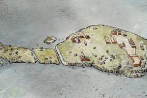 The Peninsula of Punta De Chimino in Lake Petexbatun by Richard Schlecht